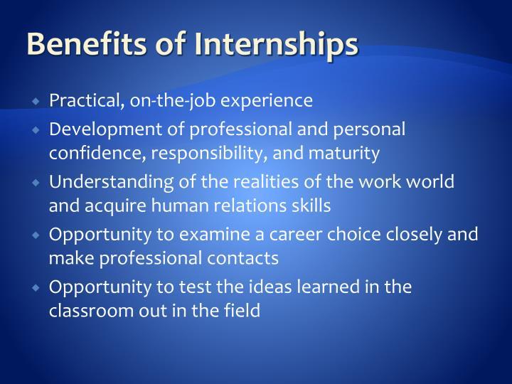 Benefits of Internships