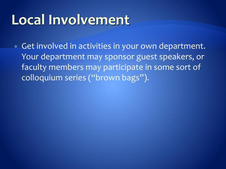 Local Involvement