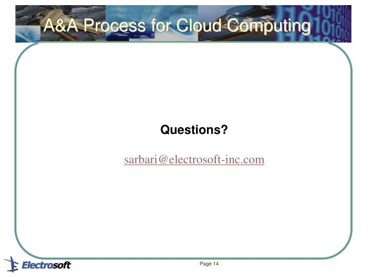 A&A Process for Cloud Computing