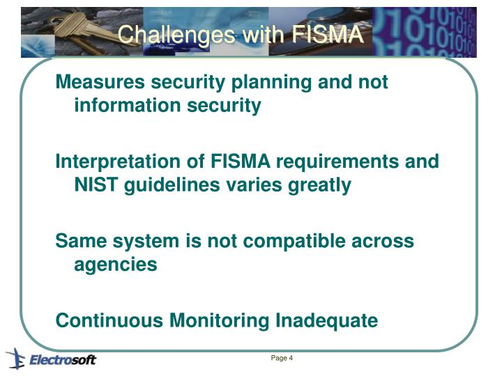 Challenges with FISMA