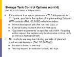 storage tank control options cont d