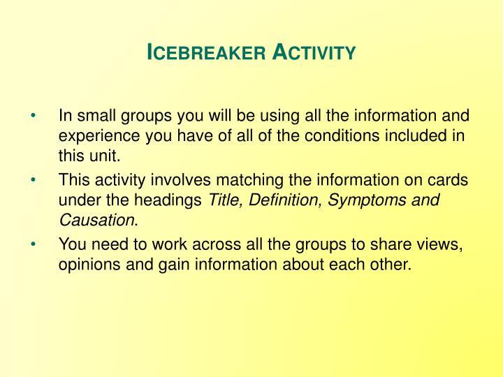 Icebreaker Activity
