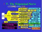 the trigeminal nerve gsa sve