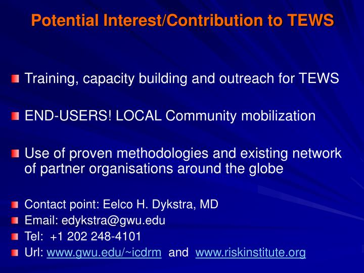 Potential interest contribution to tews