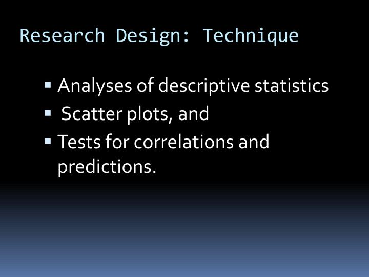 Research Design: Technique