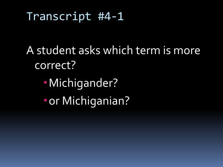 Transcript #4-1