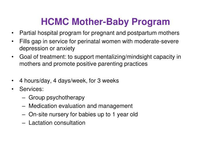 HCMC Mother-Baby Program
