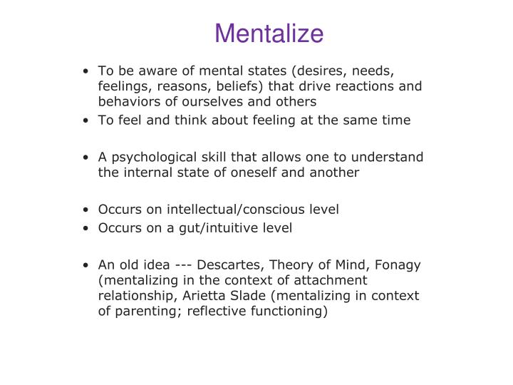 Mentalize