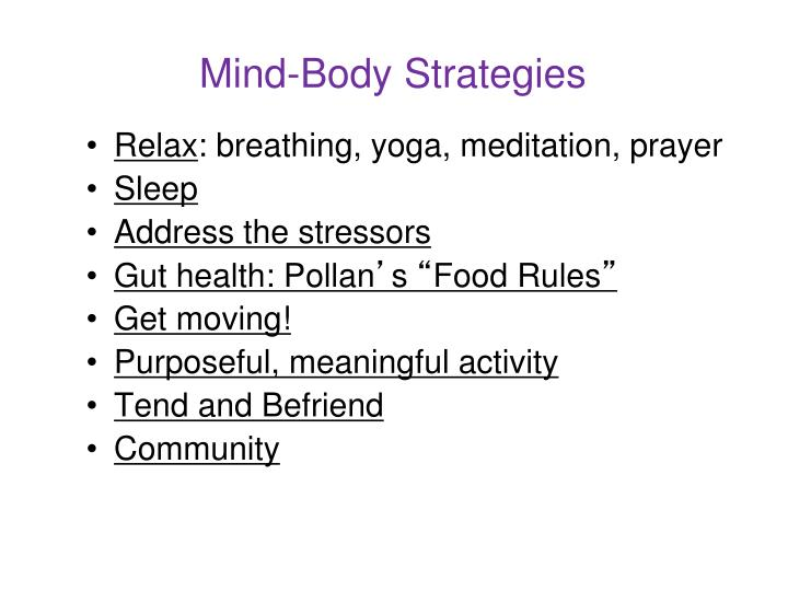 Mind-Body Strategies