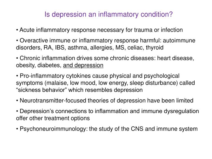 Is depression an inflammatory condition?