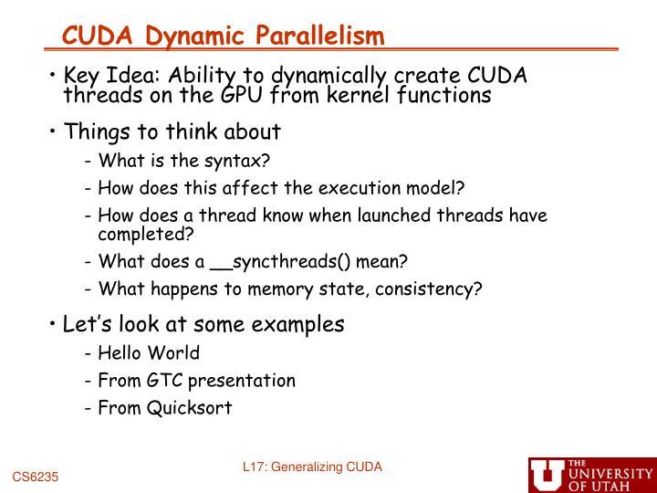 CUDA Dynamic Parallelism
