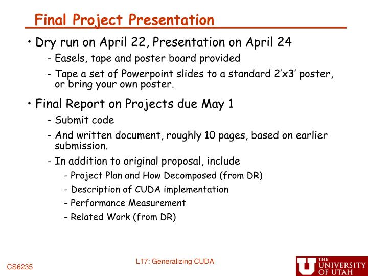 Final project presentation