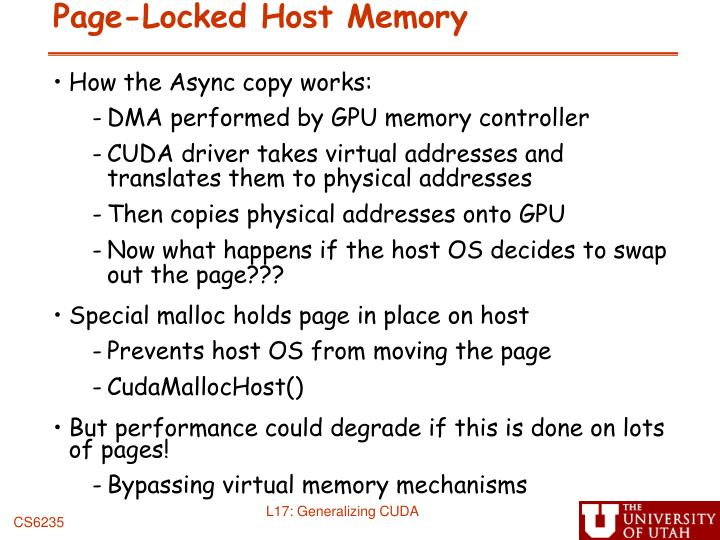 Page-Locked Host Memory
