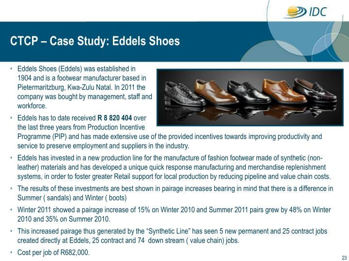 CTCP – Case Study: Eddels Shoes