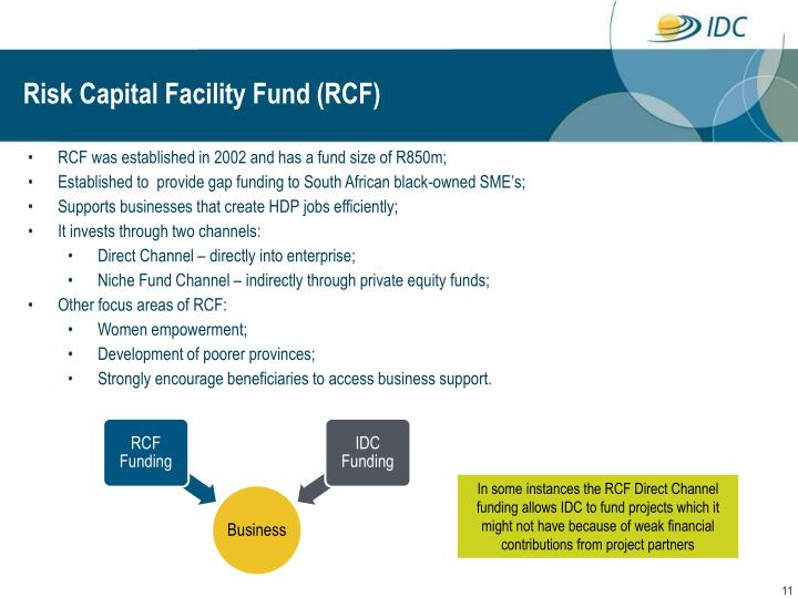Risk Capital Facility Fund (RCF)