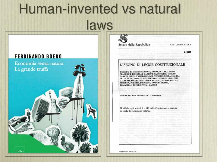 Human-invented vs natural laws