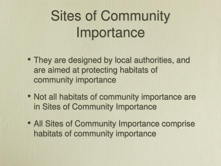 Sites of Community Importance