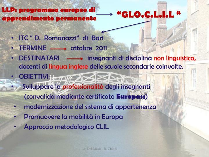 LLP: programma europeo di apprendimento permanente