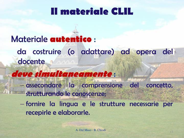 Il materiale CLIL