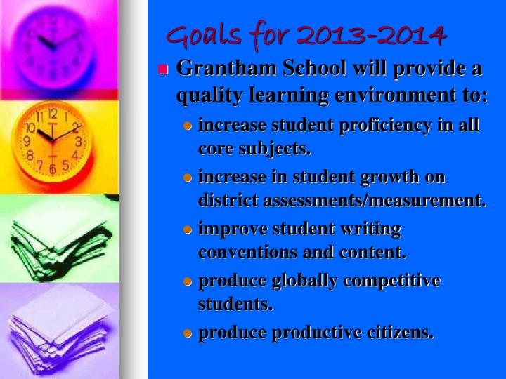Goals for 2013-2014