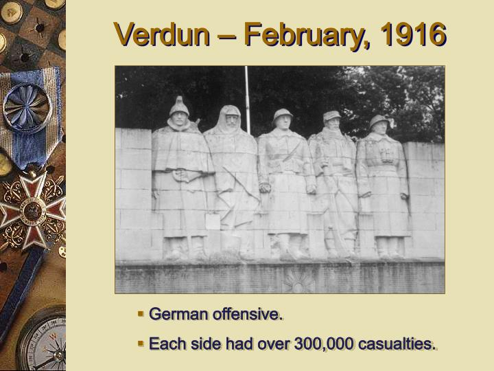 Verdun – February, 1916