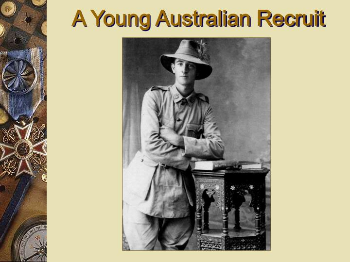 A Young Australian Recruit