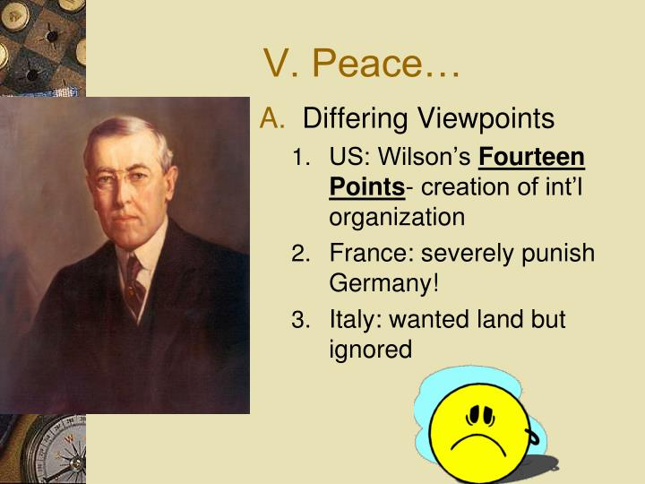 V. Peace…