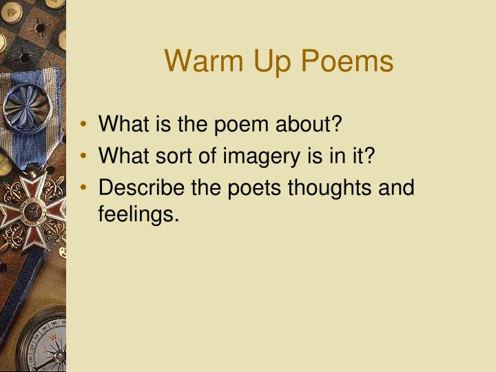 Warm Up Poems