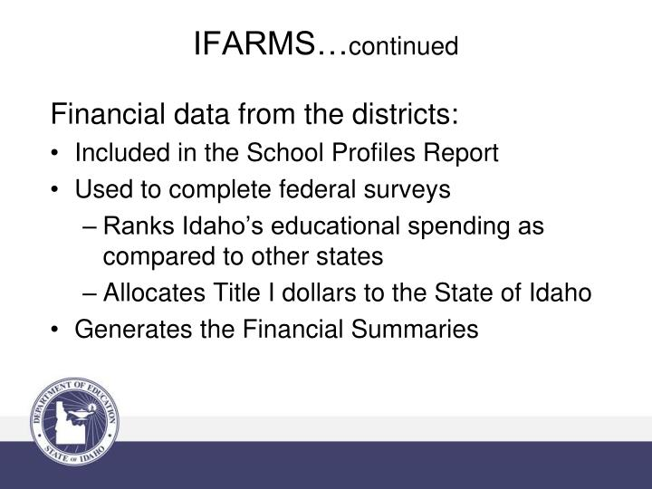 Financial data from the districts: