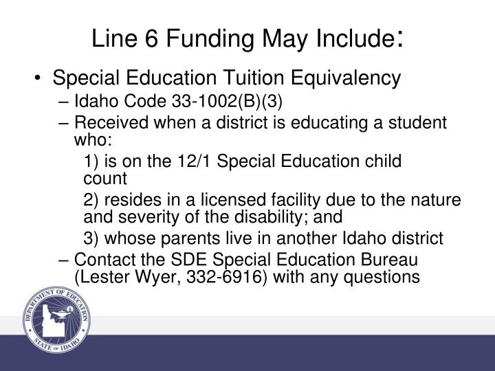 Special Education Tuition Equivalency