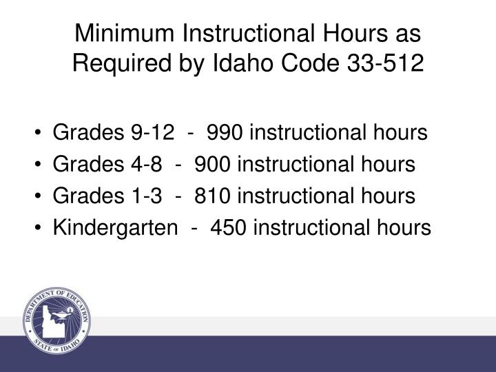 Grades 9-12  -  990 instructional hours