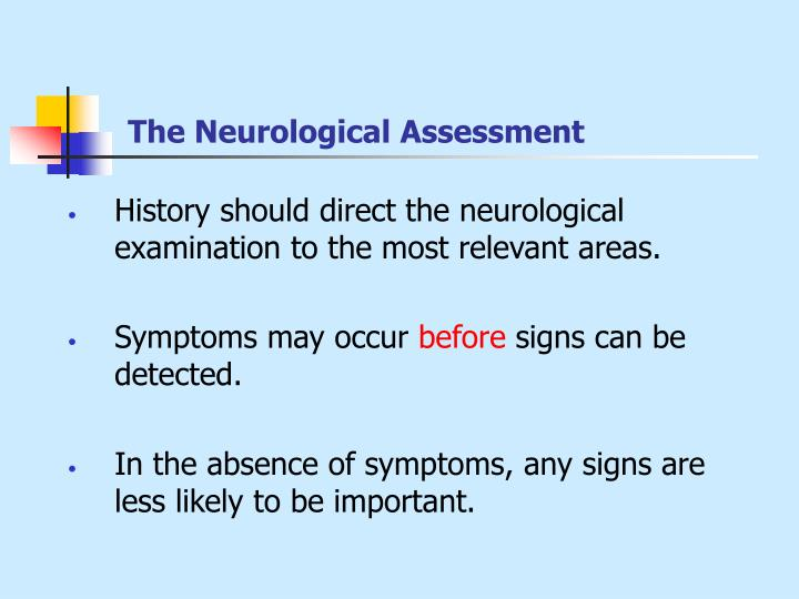The Neurological Assessment
