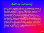 author summary
