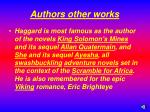 authors other works