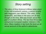 story setting
