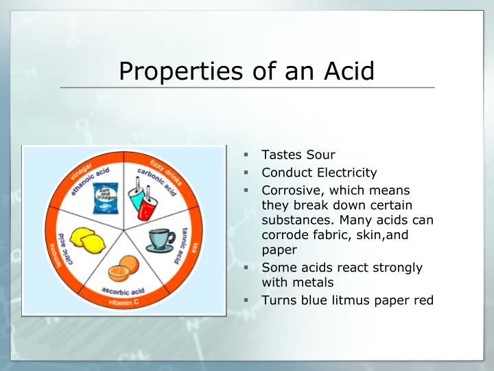 Properties of an Acid