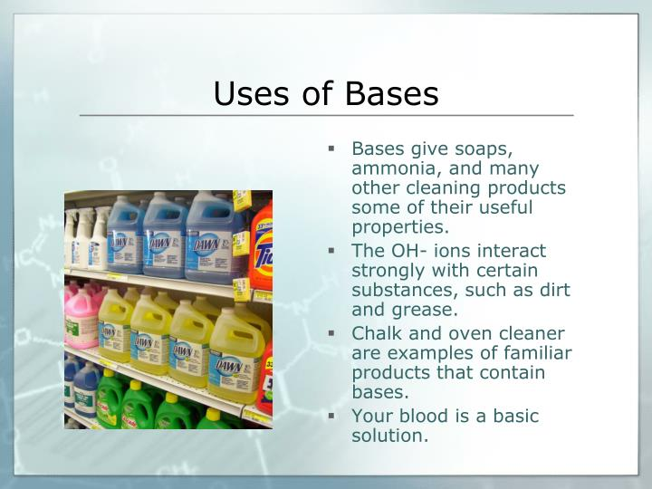 Uses of Bases