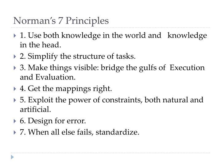 Norman's 7 Principles