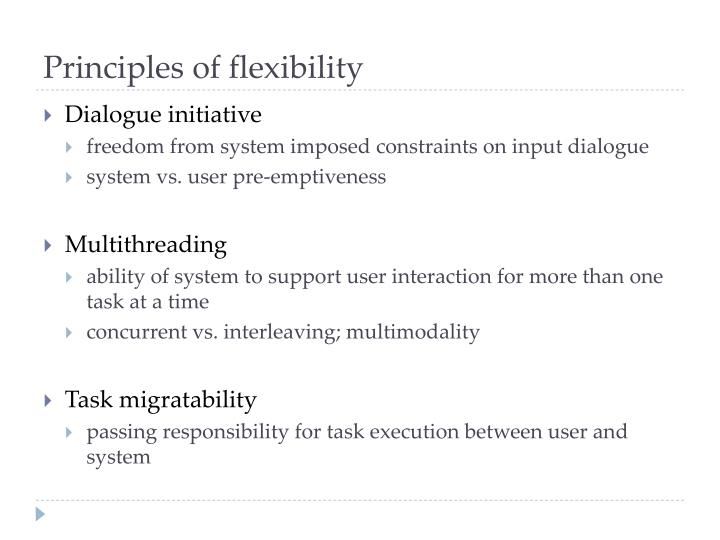 Principles of flexibility