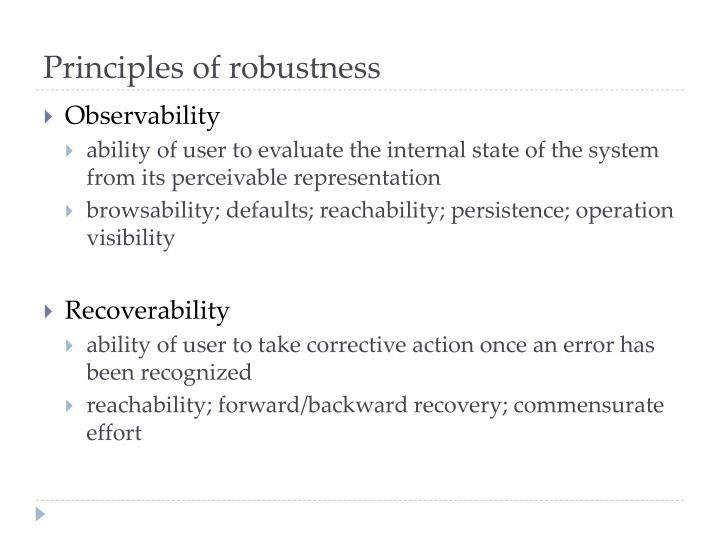 Principles of robustness