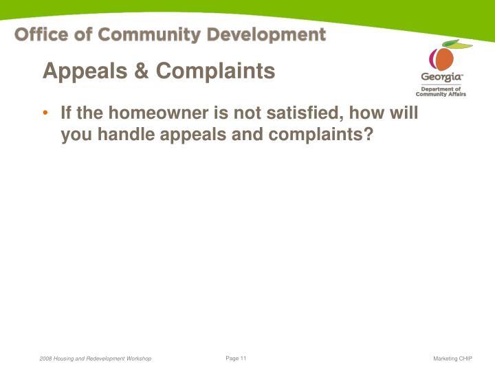 Appeals & Complaints