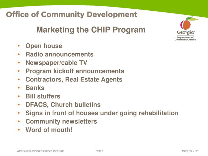 Marketing the CHIP Program