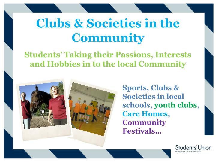 Clubs & Societies in the Community
