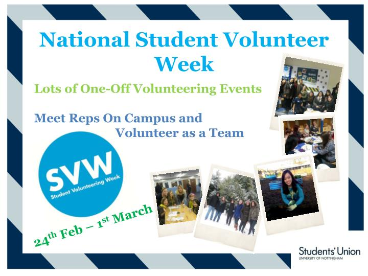 National Student Volunteer Week