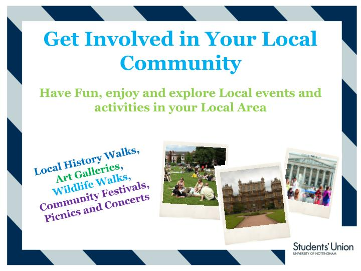 Get Involved in Your Local Community