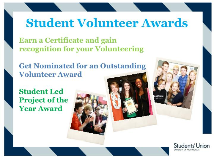 Student Volunteer Awards