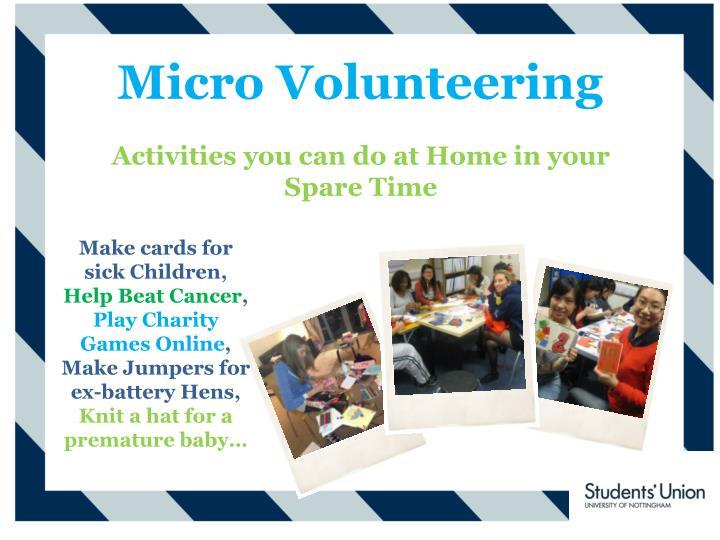 Micro Volunteering