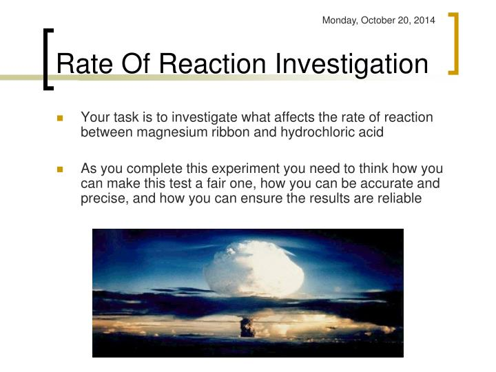 Rate of reaction investigation1