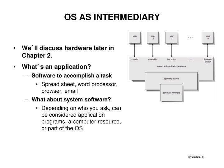 OS AS INTERMEDIARY