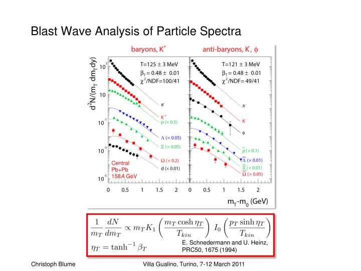 Blast Wave Analysis of Particle Spectra